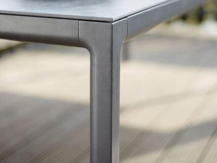 Vorschau: solpuri Soft Alu HPL Dining Tisch 80x60cm anthracite|rock-anthracite