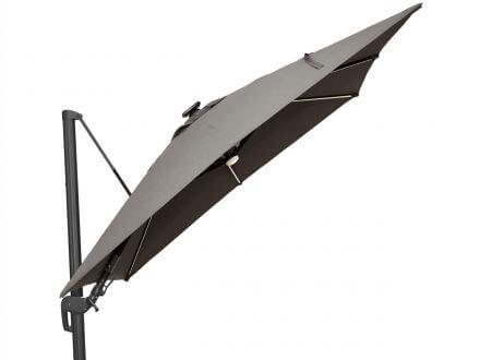 Vorschau: Tierra Outdoor LED Ampelschirm Duraflex Parasol 300x300cm Grey