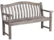 Alexander Rose Turnberry Old England grau Holzgartenbank 154cm 3-Sitzer