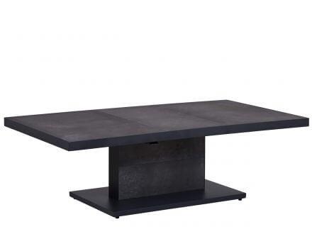 Vorschau: Lünse Alu Lift-Tisch Newport 160x90cm Keramik dark-stone