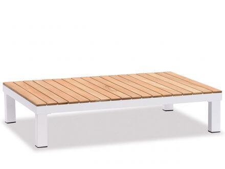 Vorschau: Lünse 5-teilige Alu Teak Plattform-Lounge Katamaran white