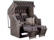 deVries Strandkorb PURE Comfort XL grau Dessin 423