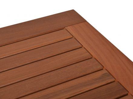 Vorschau: Balauholz / Bangkiraiholz Oberfläche mit Schutzlasur auf Wasserbasis