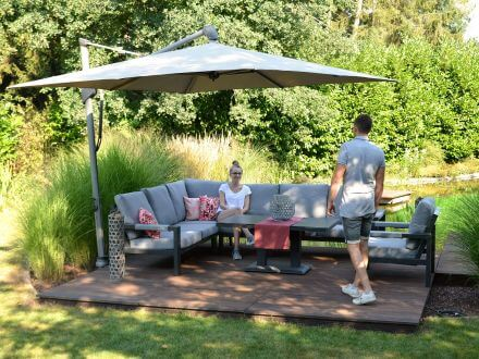 Vorschau:  Alu Eck-Dining Loungegruppe Black Pearl