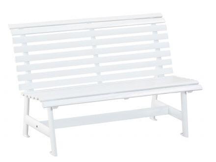 Kettler Alu Gartenbank 2-Sitzer weiß