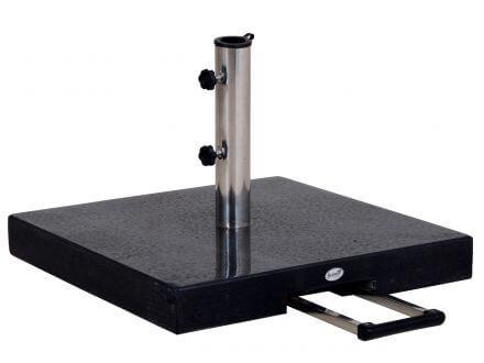 Hartman Sonnenschirmständer Granit 60kg schwarz Teleskopgriff & Rollen