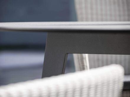 Vorschau: Stern Gartentisch Ø134cm HPL Aluminium anthrazit