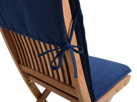 sitzauflage f r gartenst hle farbe blau gartenm bel l nse. Black Bedroom Furniture Sets. Home Design Ideas