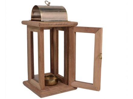 Vorschau: Mit praktischer Tür und Vorrichtung für Teelicht / Kerze