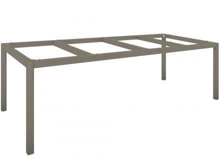 Vorschau: Stern Tischgestell Aluminium Vierkantrohr 250x100cm taupe