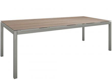 Stern Gartentisch 250x100cm Aluminium graphit/Silverstar 2.0 Tundra braun