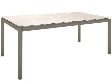 Stern Gartentisch 200x100cm Aluminium taupe/Silverstar 2.0 Travertin