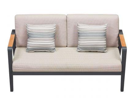Vorschau: Lünse Alu-Teak Loungemöbel Regency Loungesofa 2-Sitzer