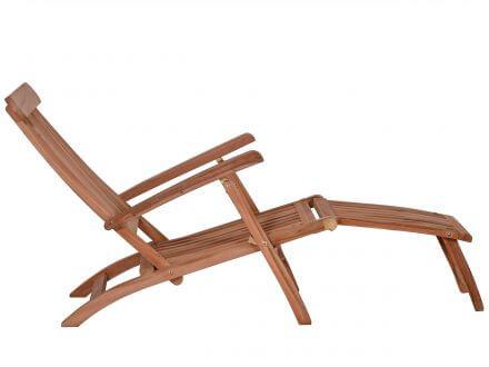 Vorschau: Lünse Teak Holz Deckchair John
