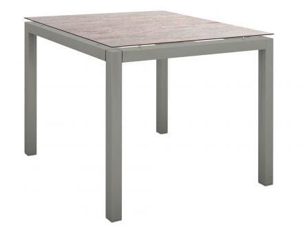Stern Gartentisch 90x90cm Aluminium graphit/Silverstar 2.0 Sand