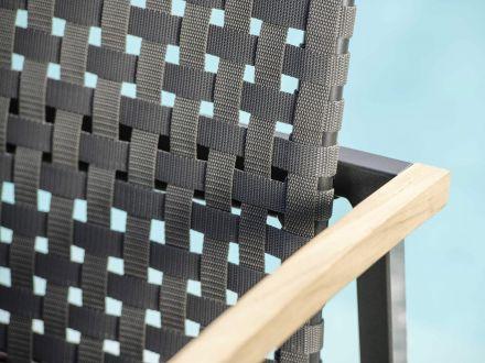 Vorschau: Stern Lucy Stapelsessel anthrazit Gurtbespannung platin