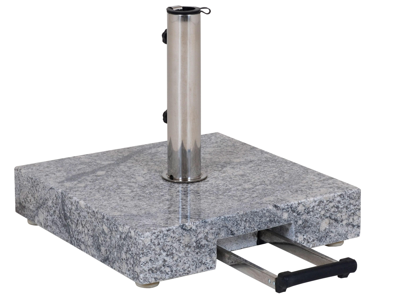 schirmst nder 45kg quadratisch granit grau gartenm bel l nse. Black Bedroom Furniture Sets. Home Design Ideas