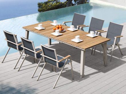 Vorschau: Ambientebild Sitzgruppen-Beispiel mit Stapelsessel Topaz
