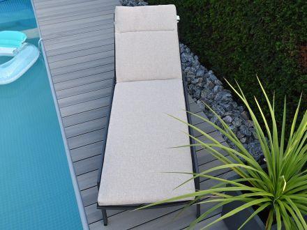 Vorschau: Lünse Sonnenliegen Auflage Venice Royal Beige 200x57cm