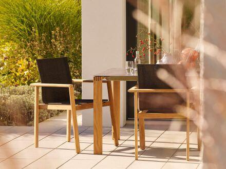 Vorschau: solpuri Safari Gartentisch Ambientebild Sitzgruppenbeispiel