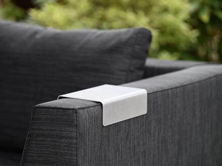 Vorschau: Lünse 2-er Set Aluminium Ablage für Armlehne Legian