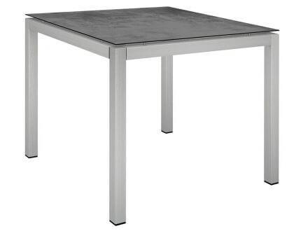 Stern Gartentisch 90x90cm Edelstahl Vierkantrohr / Zement