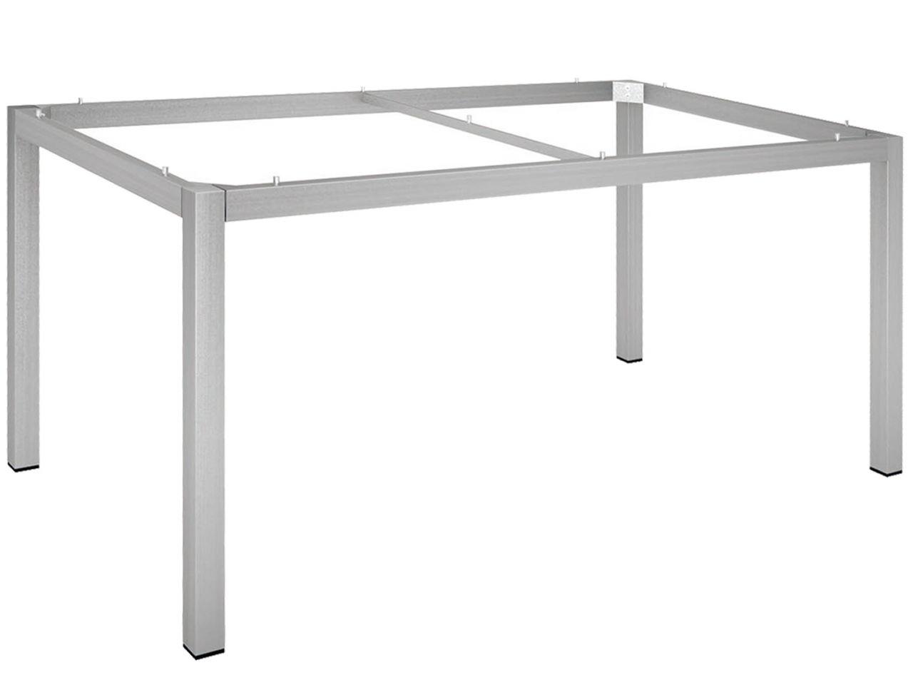 Stern Tischgestell 130x80cm Edelstahl Vierkantrohr