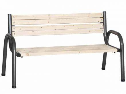 Siena Garden Gartenbank Park Kiefer Stahl 150cm 3-Sitzer