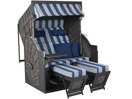 deVries Strandkorb PURE Comfort XL grau Dessin 434