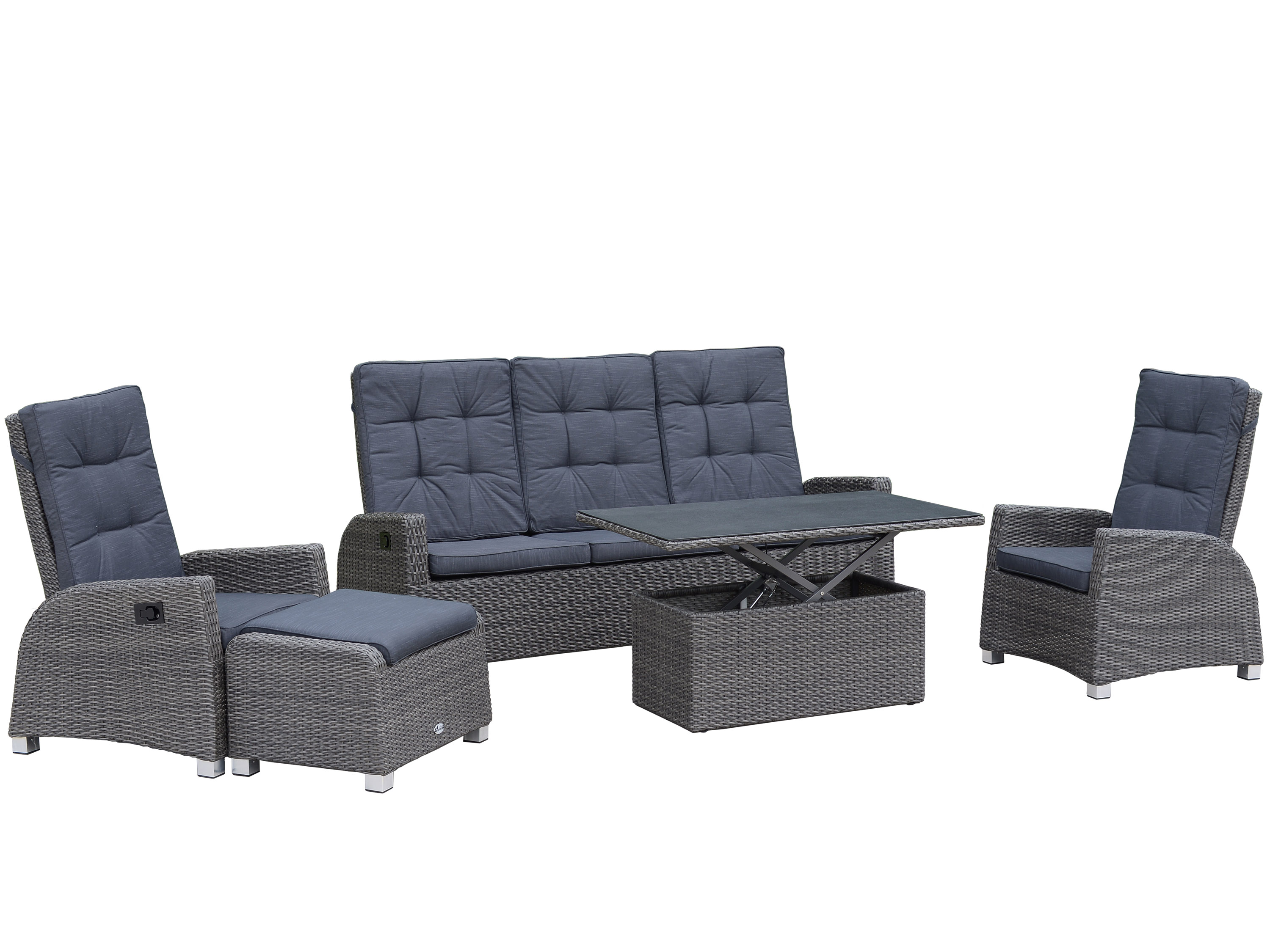 multifunktionale lounge gruppe valencia 5 teilig gartenm bel l nse. Black Bedroom Furniture Sets. Home Design Ideas
